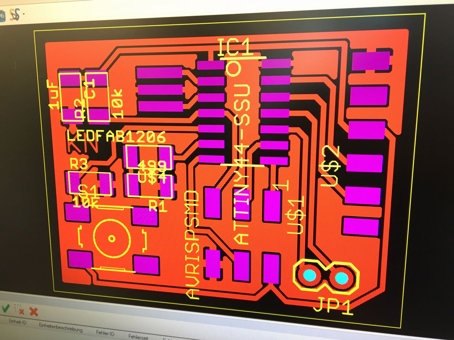 Fab Academy 2016 Karsten Nebe Circuit Board Milling Is Performed On Our Protomat S63 I Used The Microscope To Check Quality Of After All Looked Fine We Solder Varnish Seal Surface From Oxidation
