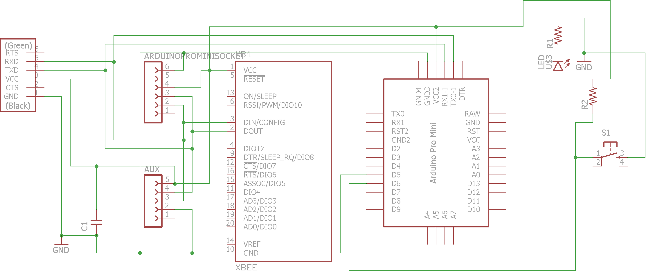 Assignment15 Ftdi Cable Schematic This Is A Double Sided Board And 8 Vias For I Used Rivets 08 Mm Hole Placed Connector Power Feed With Additional Two Sockets