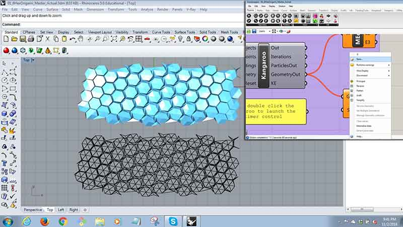 B Create A Box Below The Baked Origami Model This Can Be Done By Tracing Edge Outline Of