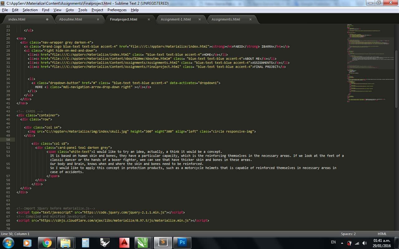 comment corriger une dissertation Assignment HTML