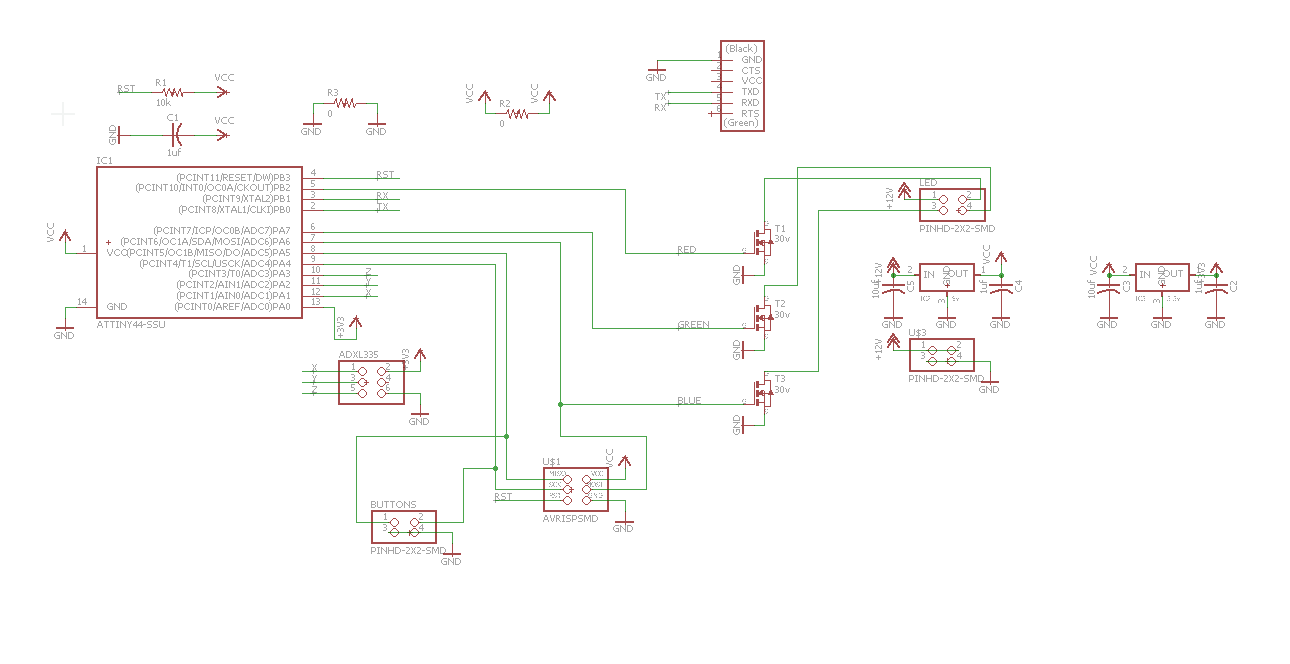 Final Project Development Accelerometer Circuitschematic Then I Added Two More Fci Pins One For The And A Button Board