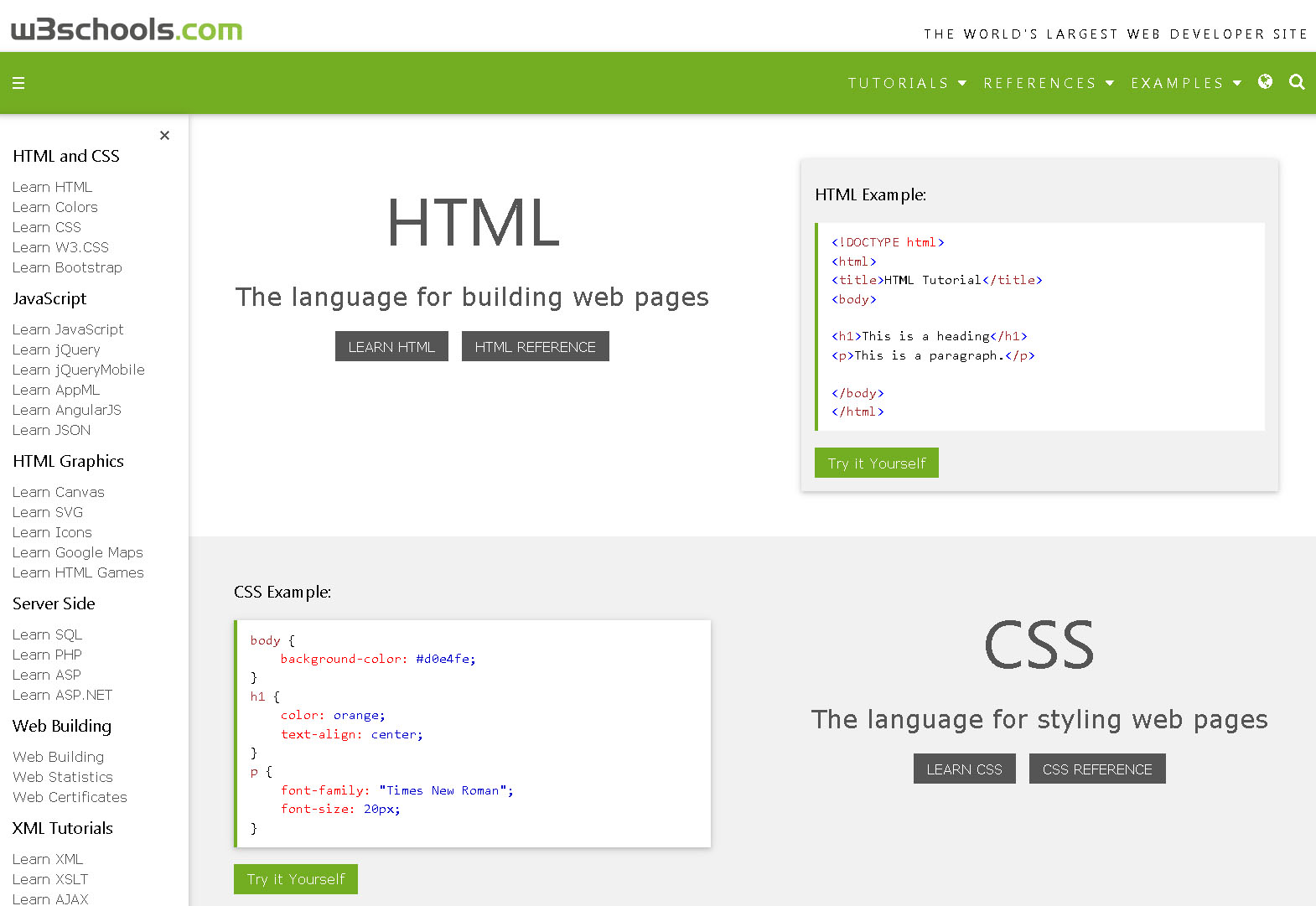 Web colors w3schools - Screenshot Of W3schools Website