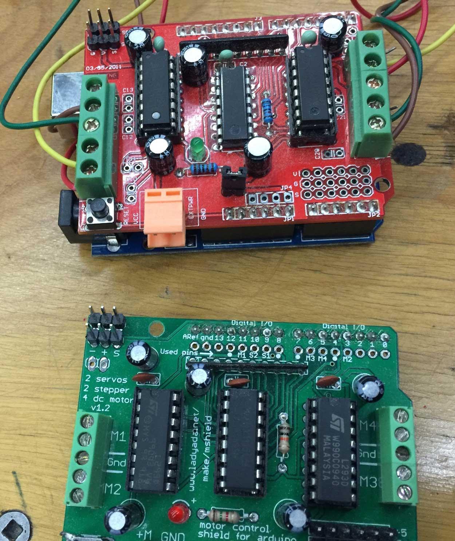 Phonesavanh Thongsouksanoumane Wiring Arduino Motor Shield I Have Not Yet Made My Fabduino Board Compatible With Adafruit Motorshield So Am Using An Aruino To Design And Test Code Control The Nema17