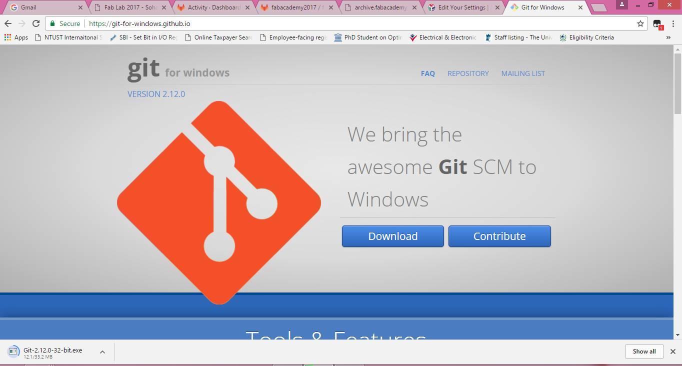 Fab lab 2017 sohail ahmed soomro first step was to install git bash git tutorial baditri Gallery
