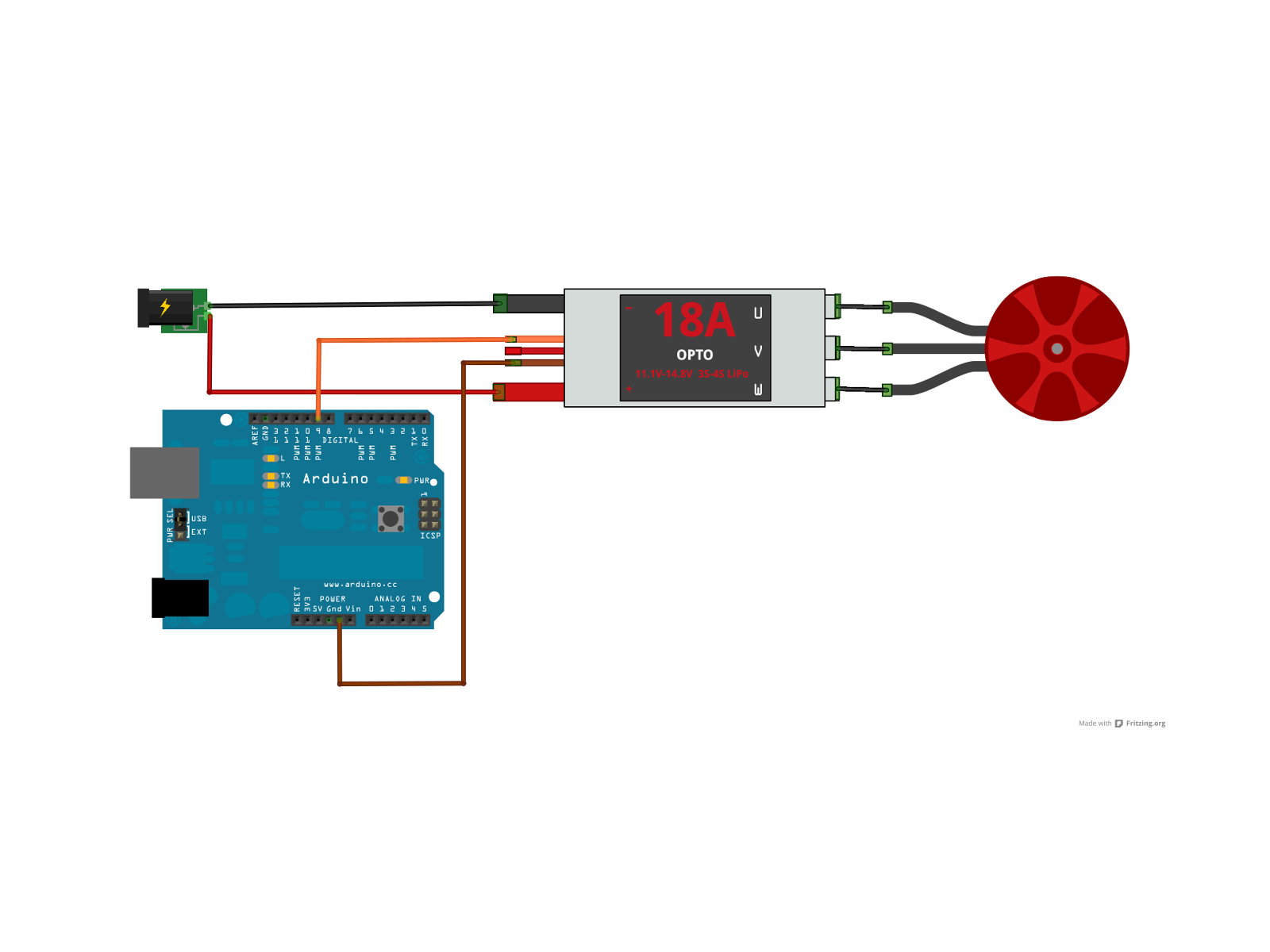 Fab Academy 2017 Jrn Kiwitt Arduino Motor Control Circuit Additionally Servo Schematic Image Esc Arduinofritzing Connection Of The Bldc Wiring Controlled