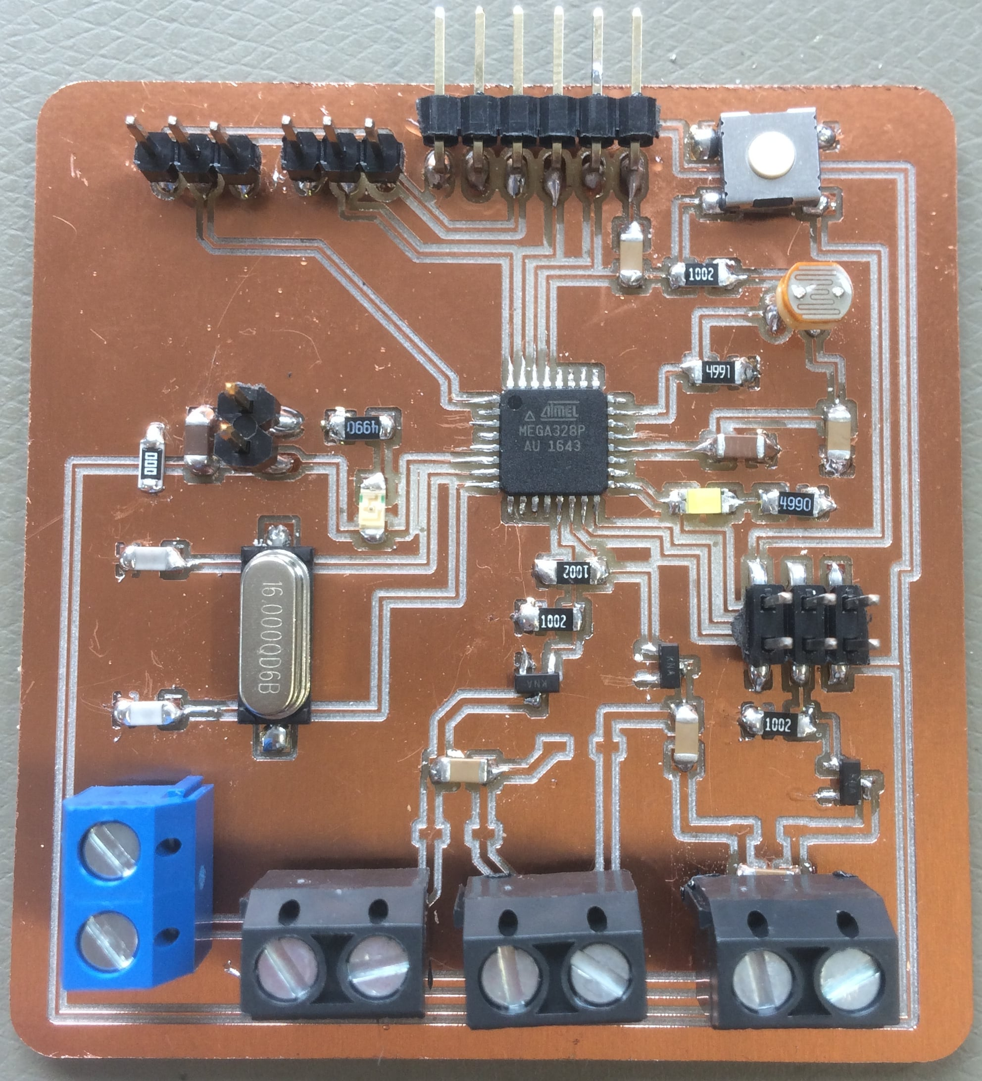 Albot Dima Fab Academy 2017 Ir Thermometer Circuit Board Mods I Used A Multimeter An To Program My Arduino Ide Connect The Usb Hub In Tools Menu Select Right Uno Genuino And