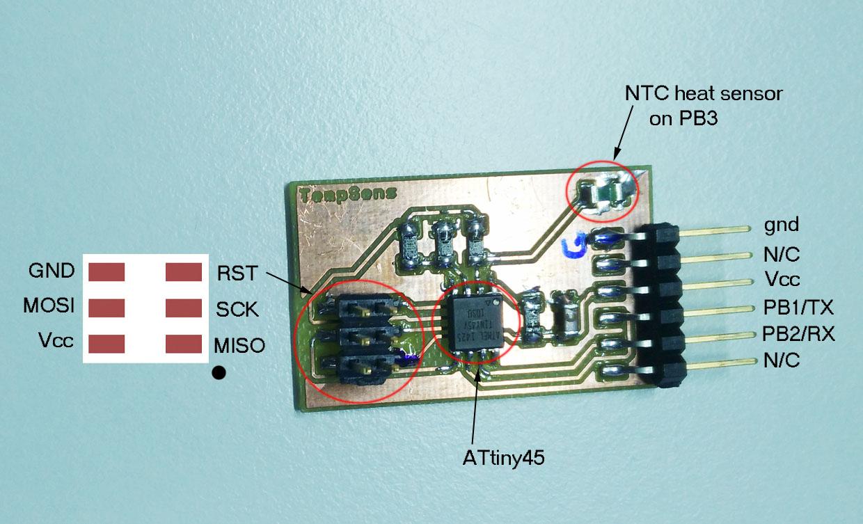 Week 13 Fablab 2017 Heat Sensor Circuit Schematic Board
