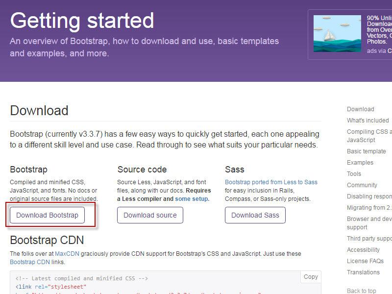 bootstrap cdn links