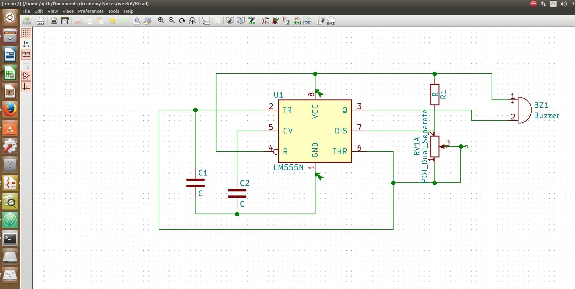 Ajiths Fab Diary 2017 Circuit Simulation And Pcb Design With Tina One Of The Main Intersting Thing In This Software Is That We Can Vie Boards 3d I Used Viewer Option Available Kicad Below Showed