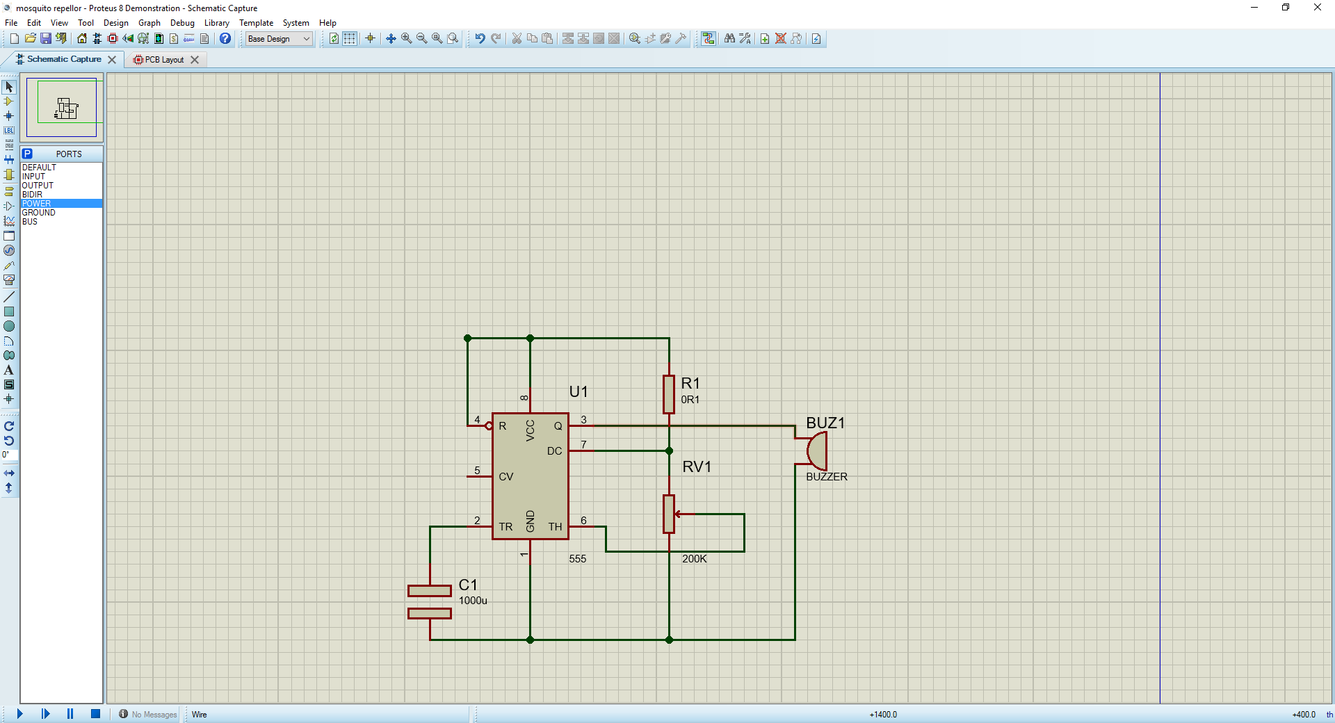 Ajiths Fab Diary 2017 Make This Electronic Mosquito Repeller Circuit Diagram I Used The Demo Version Of Proteus So It Doesnt Allow To Save Files And Process But One Thing Loved Is In Same Schematic Window We Can Do