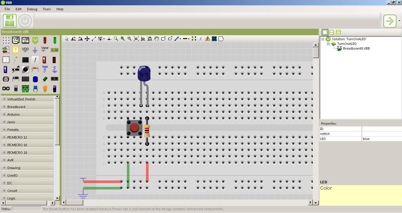 Fab Academy 2017 Jim Seelan Simple Hobby Circuit A Created On Virtual Bread Board Application