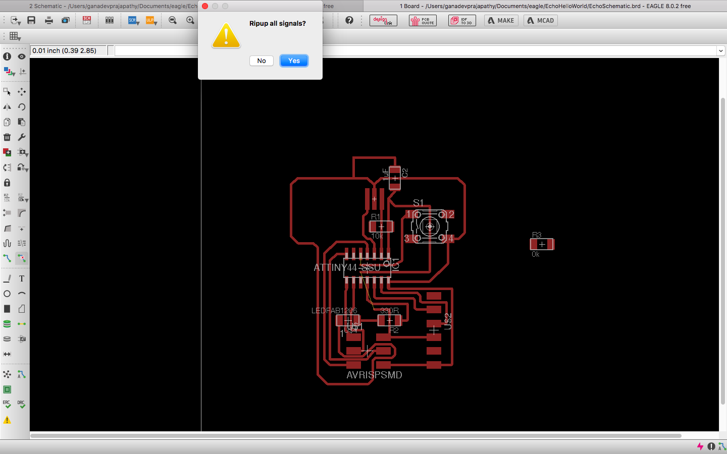 Week 6 Ganadev Prajapathy Explanations Here Http Www Circuitstoday Com Voltage Limiter Circuit I Was Able To Create A Successful Design That Checks Up With The Rules Screenshot Of My Echo Board