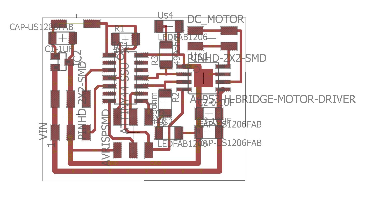 Week 10 Bridge Pwm Motor Driver Amplifier It Is Such A Complete Hbridge As Seen From The Above Pictures I Added Diode That Connected To Regulator Output And Vcc Of Attiny44 Because My Colleagues Faced An Issue