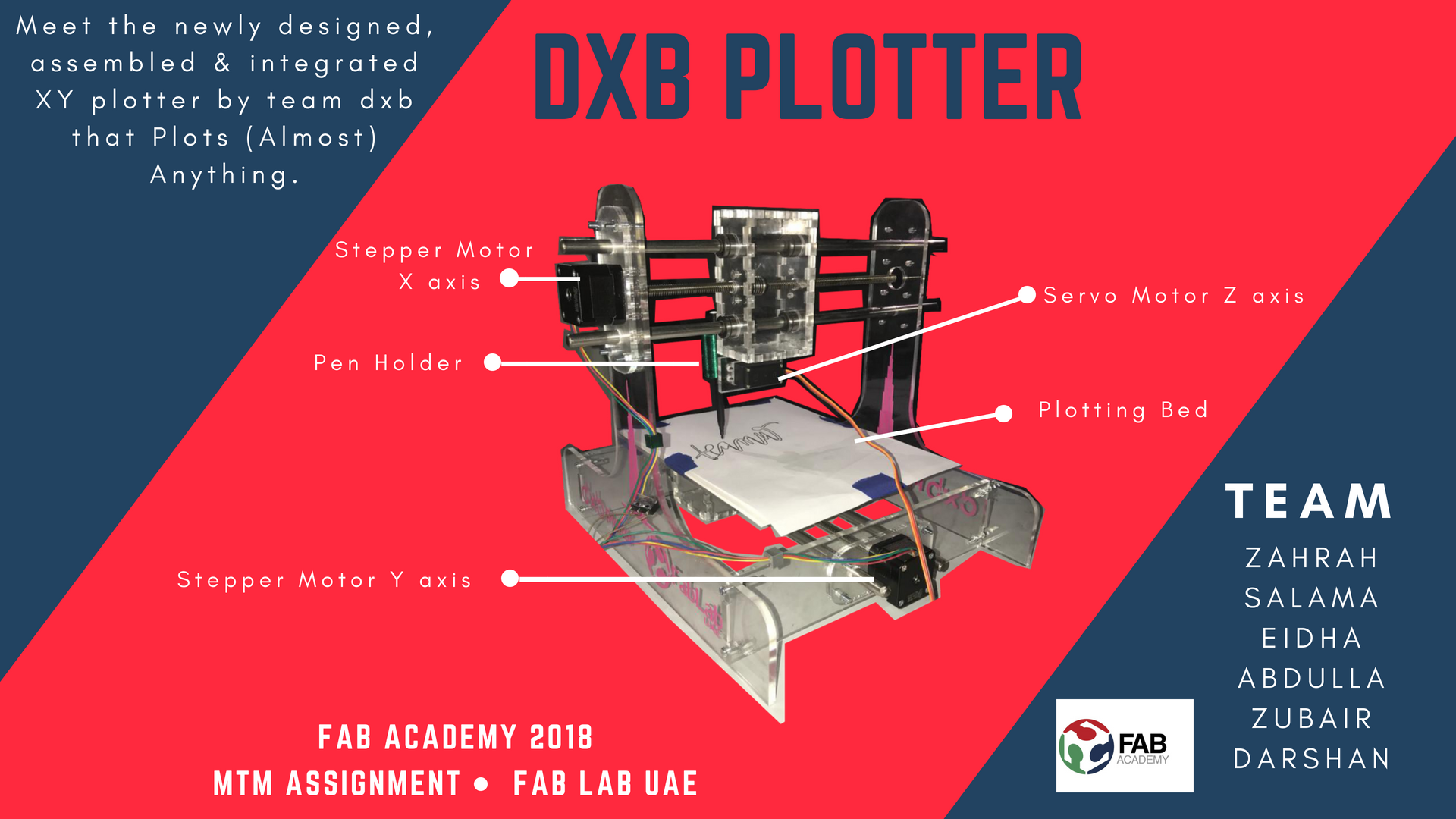 DXB-plotter Fab Lab UAE 2018
