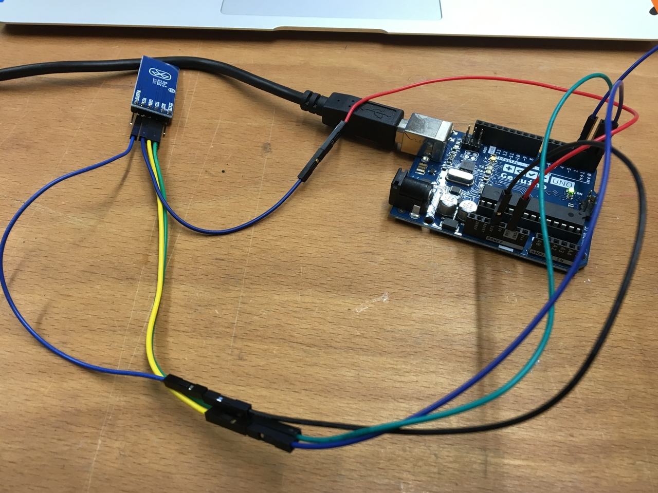 Fabacademy 2016 Project Page Wiring Arduino Processing The Itself Was Pretty Easy You Just Need To Provide Gnd And 33v Hc05 Bluetooth Module Connect Rx Tx According Port