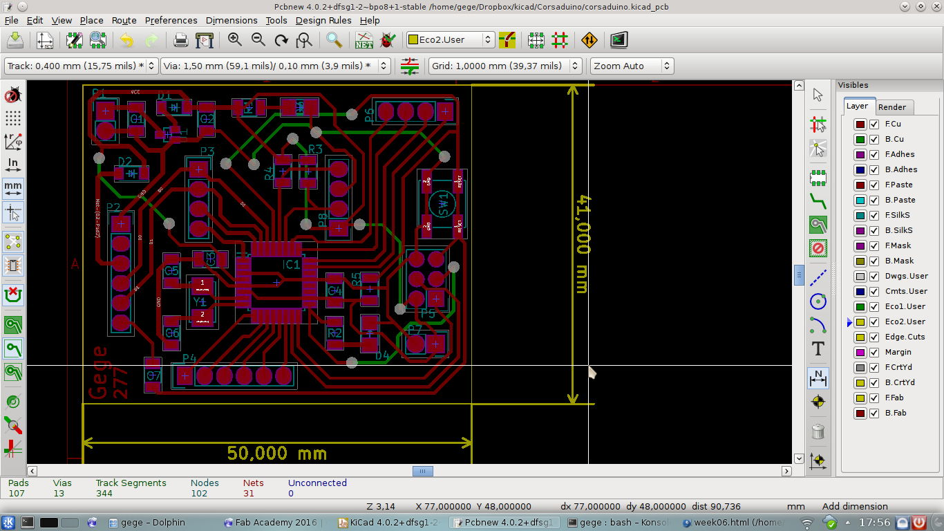week06 kicad pcbnew01 fab academy 2016 g�rard bandini schematic fused wiring wow at suagrazia.org