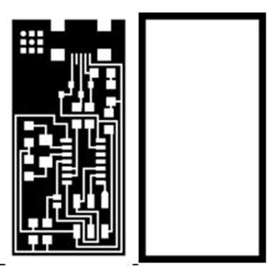Fabacademy 2016 Fr4 Material Electronic Calculator Pcb Circuit Board With The First Image Are Traces Mill Using Fab Modules And A 1 64 Bit Second One Is Outline