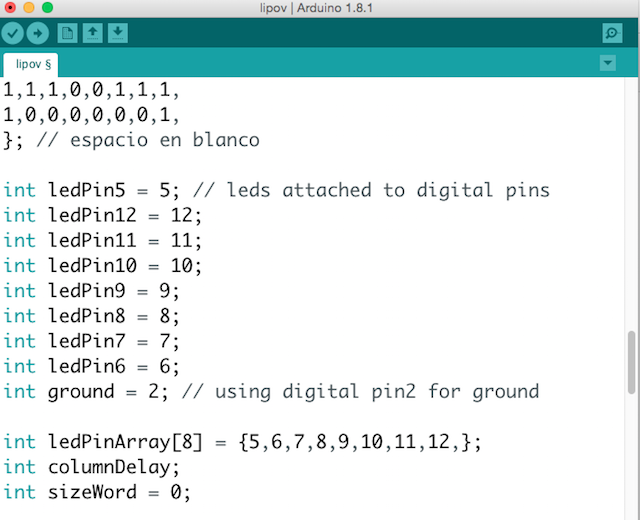 after variables declaration i set up starting with the digital pins as an outputs