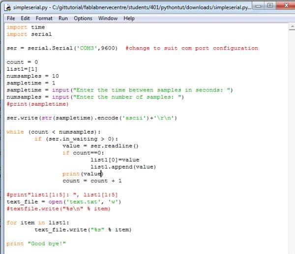 Fab Lab Academy LM Python Serial Tutorial