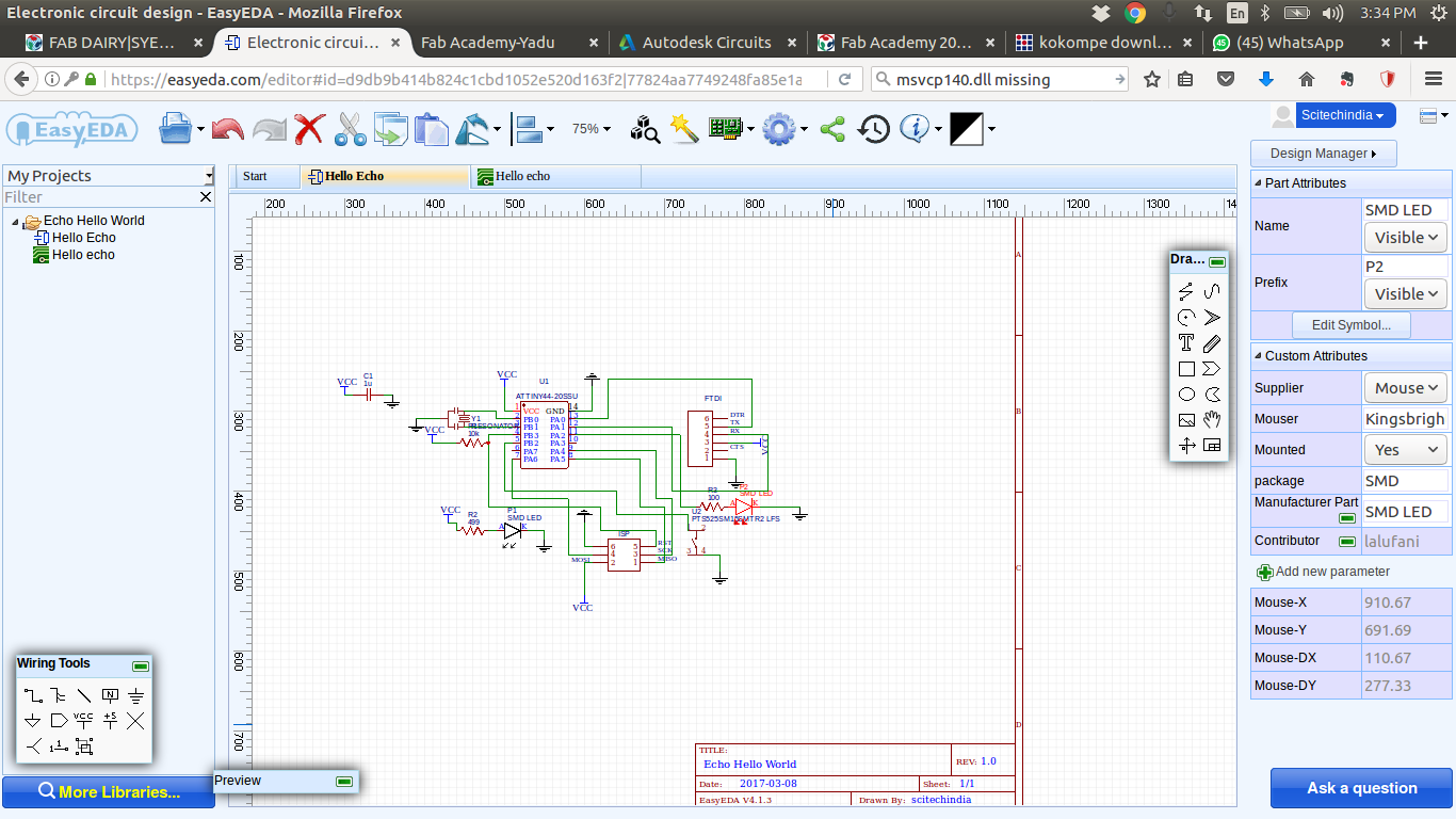 Fab Dairy Syed Junaid Ahmed Technical Expresspcb Schematic And Pcb Design Software New Version Easy Eda The Name Itself Tells Its Desging Part Of Schematics Is Very But Traceing Route Abit Confusing Backend