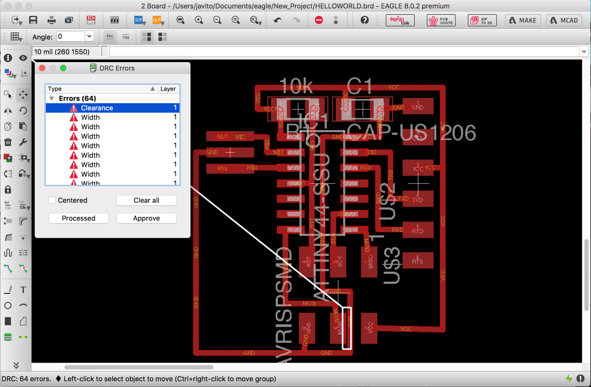 Fabacademy Javi Burngarca Electronic Circuit Drawing Software Circuits Pic As A Rule Of Thumb It Should Be At Least Our Biggest Bit 1 32 Inch But This Would Vary The Design Itself Some Will Require Wider Or