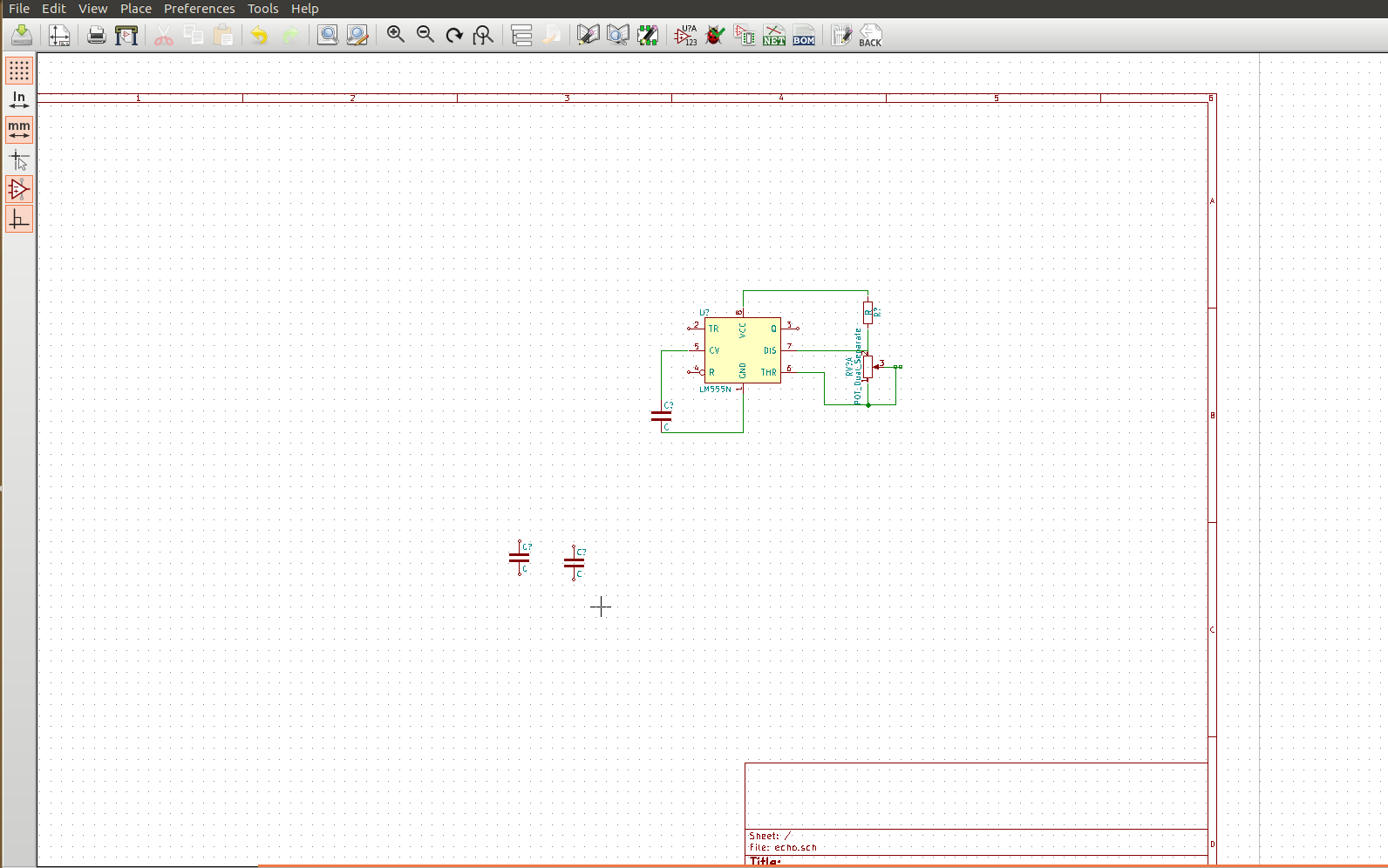 Ajiths Fab Diary 2017 Electronic Mosquito Repellent Circuit Diagram Using Ic 555 I Started The Design Of Repeller In Kicad As It Requires Ic555 Timer Was There Its Default Library And Placed Other Components Like