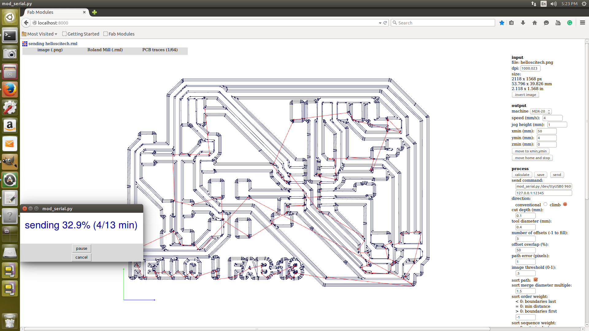 Fab Dairy Syed Junaid Ahmed Technical Expresspcb Schematic And Pcb Design Software New Version The Milling Was Half Way